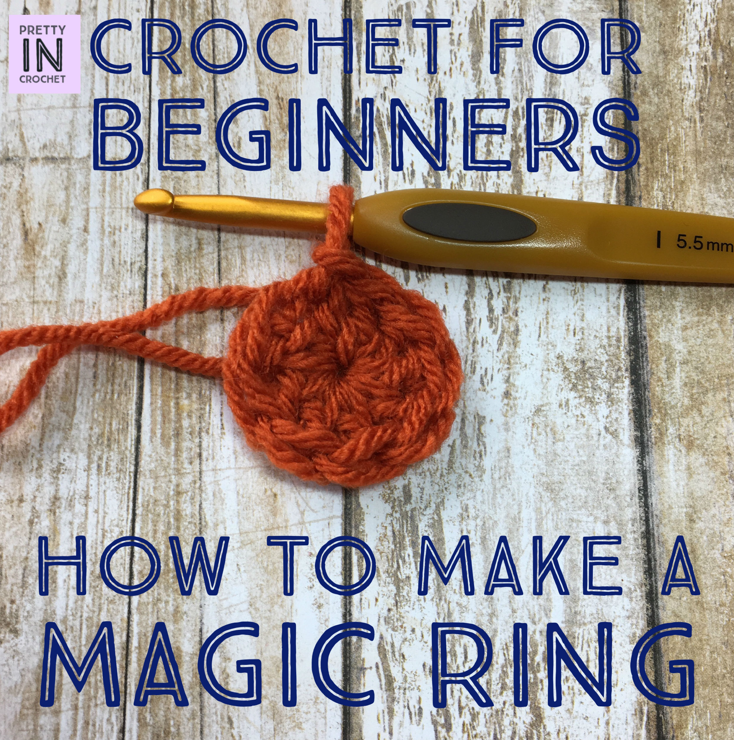 Crochet For Beginners: How to Make a Magic Ring