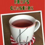 Peppermint Drops Christmas Coasters: Project