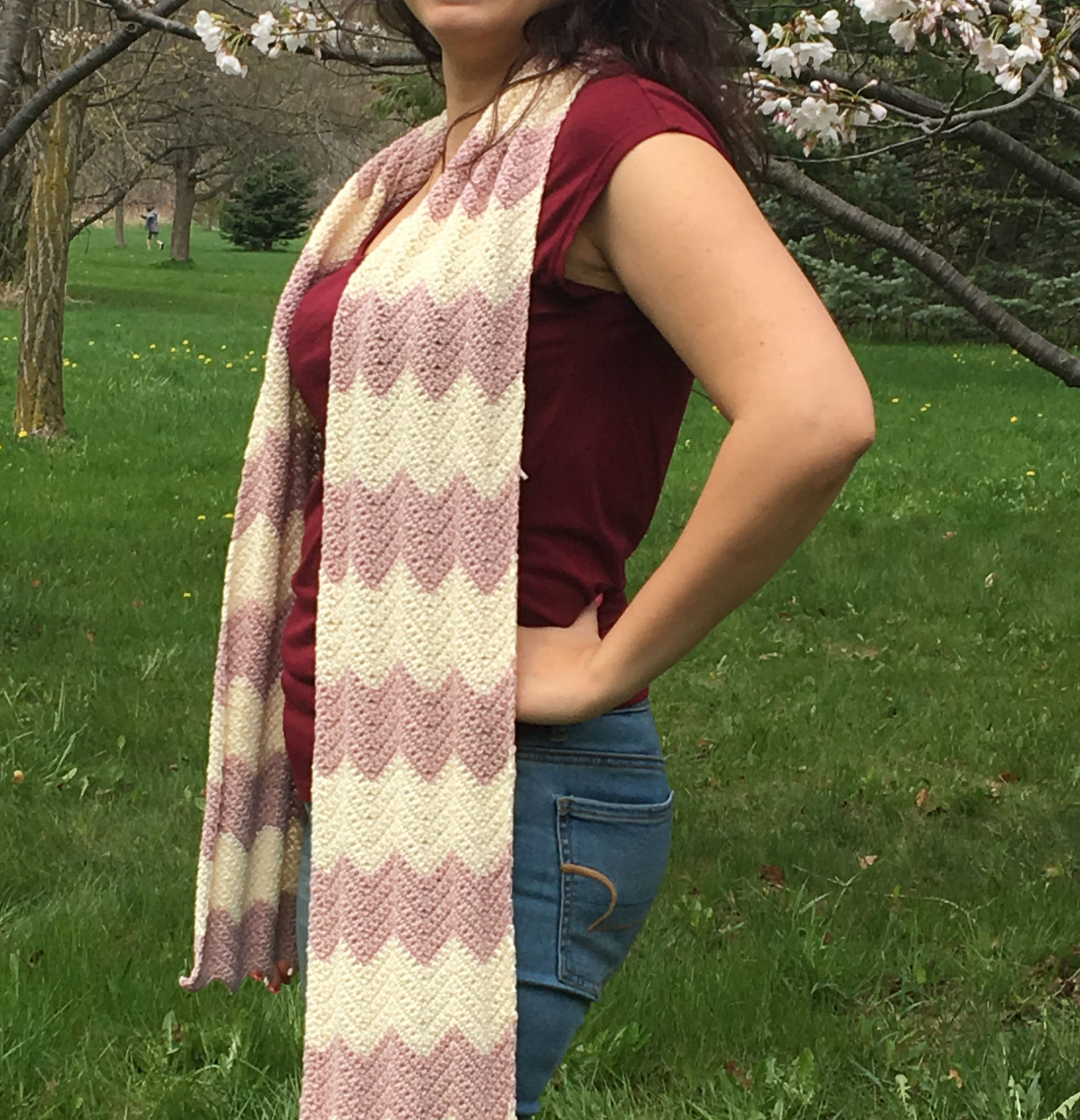 Cherry Blossom Chevron Scarf: Project