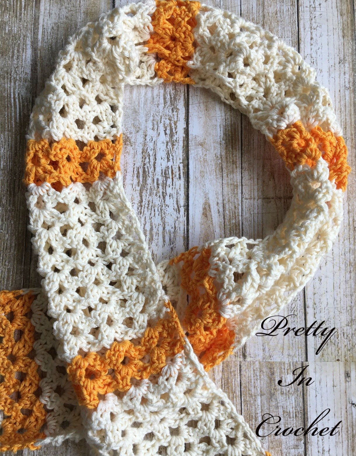 Peaches and Cream Scarf: Free Pattern