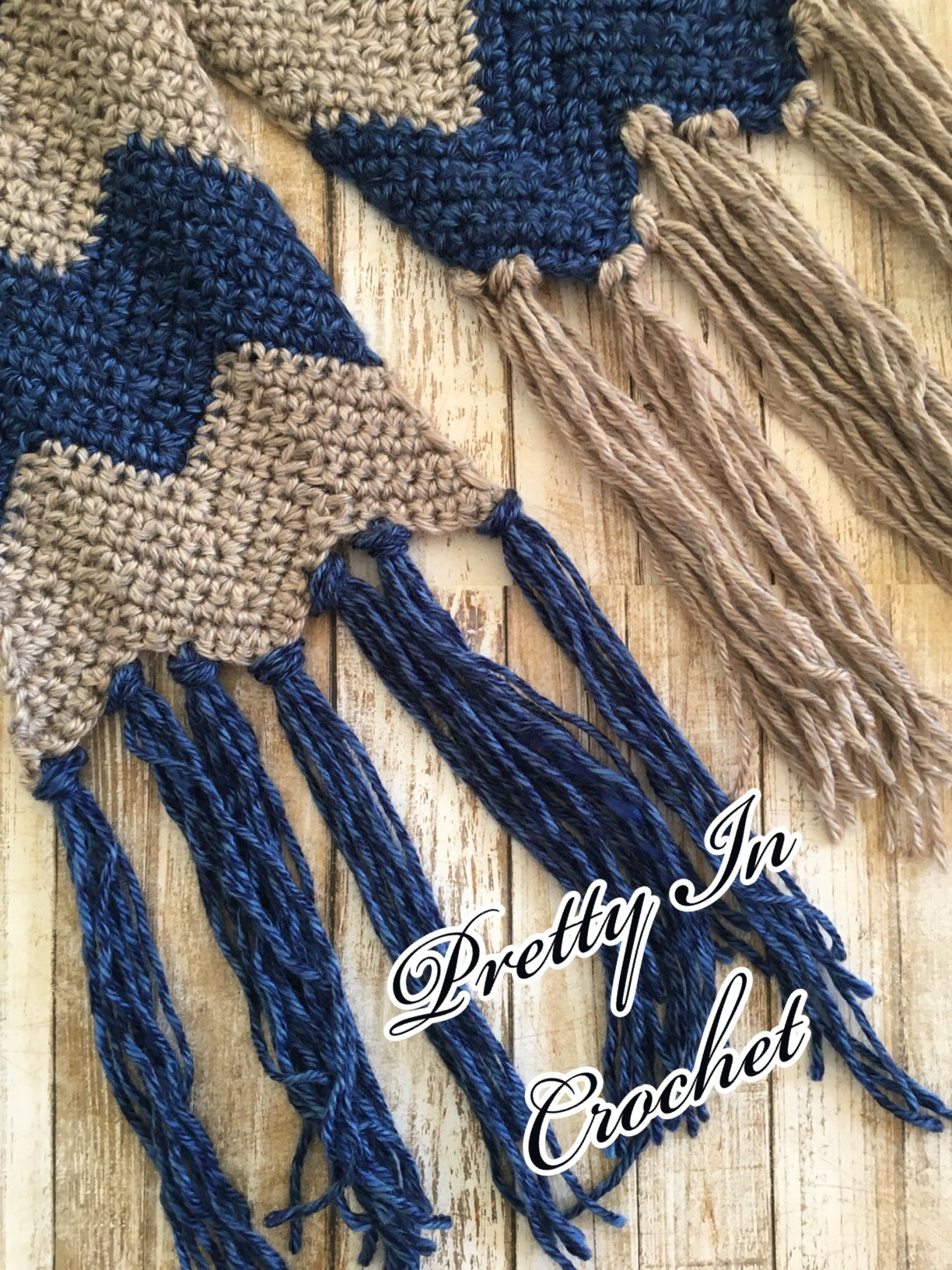 Sand and Sky Ripple Scarf: Pattern